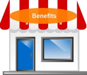 Business with Benefits Sign